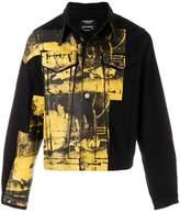 Calvin Klein screen printed denim jacket