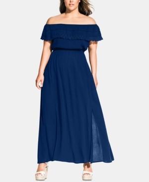 City Chic Trendy Plus Size Tropicana Maxi Dress