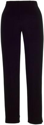Chesca Velvet Pull On Trousers, Black