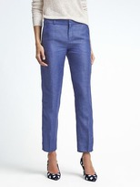 Banana Republic Avery-Fit Chambray Linen-Blend Pant