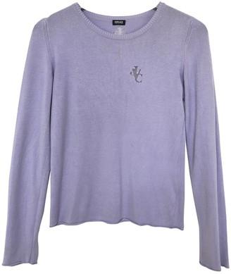 Versace Purple Wool Knitwear for Women Vintage