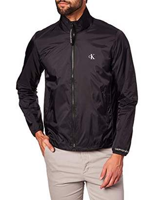 Calvin Klein Jeans Men's Nylon Harrington Sports Jacket,Small (Size:S)