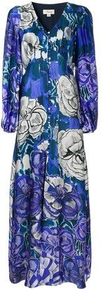 Temperley London Floral-Print Silk-Blend Maxi Dress
