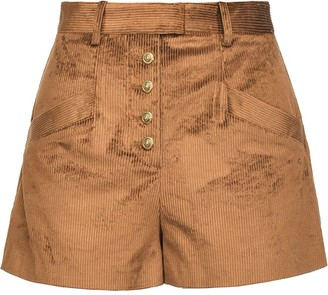 Pinko Distressed Corduroy Shorts