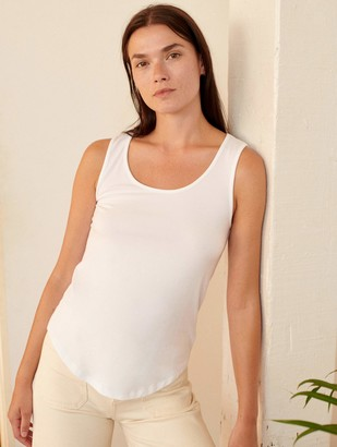 White + Warren Cotton Scoop Neck Tank