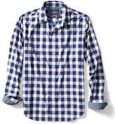 Banana Republic Grant-Fit Custom Wash Gingham Shirt