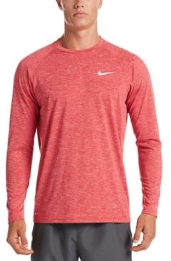 Nike Men's Heather Hydroguard Long Sleeve Swim T-Shirt