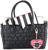 Betsey Johnson Be Mine Dip Removable Pouch Satchel Bag