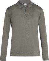 Brioni Long-sleeved cotton-piqué polo shirt