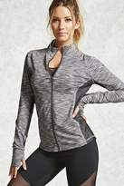 Forever 21 Active Marled Mock Neck Jacket