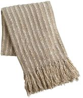 Pier 1 Imports Natural Chenille Seedstitch Throw