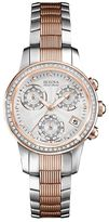 Bulova Women's Accu Swiss Diamond Two Tone Stainless Steel Watch - 65R153
