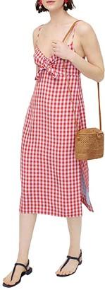 J.Crew Tasso Dress in Gingham (Red/Blue) Women's Clothing