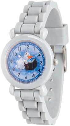 EWatchFactory Disney Frozen 2 Olaf Boy's Gray Plastic Time Teacher Watch 32mm