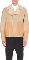 Loewe Contrast suede and shearling biker jacket