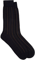 Barneys New York Men's Pembridge Mini-Cross-Pattern Mid-Calf Socks