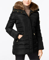MICHAEL Michael Kors Faux-Fur-Collar Hooded Down Puffer Coat