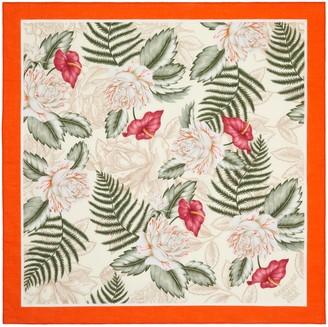 Gucci Hawaiian print cotton scarf
