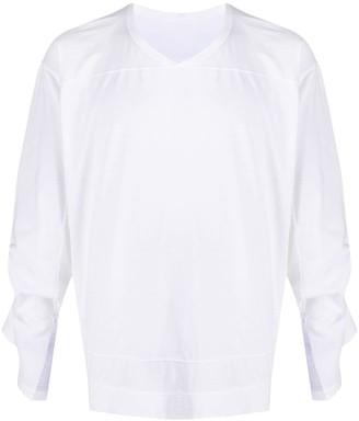 Rick Owens cuff slit cotton T-shirt