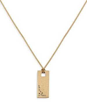 AllSaints Sparkle Dog Tag Pendant Necklace, 16