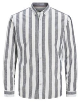 Jack and Jones Men'S Long Sleeve Striped Woven Shirt