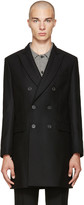 Ami Alexandre Mattiussi Black Wool Double-Breasted Coat