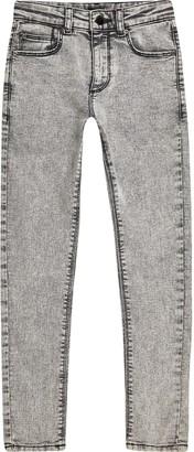 River Island Boys Grey Danny acid wash super skinny jeans