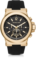 Michael Kors Dylan Golden Stainless Steel Men's Chronograph Watch w/Rubber Strap