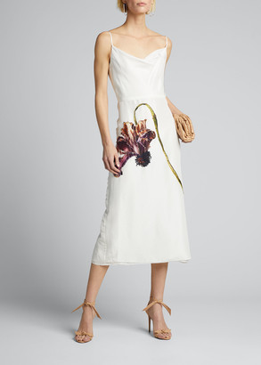 Jason Wu Collection Floral Print Silk Habotai Day Dress