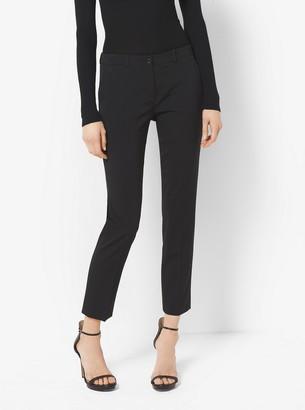 Michael Kors Samantha Stretch-Wool Gabardine Pants