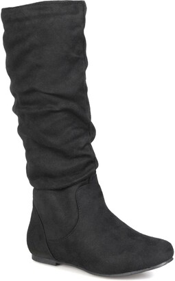 Journee Collection Rebecca Slouchy Riding Boot - Wide Calf