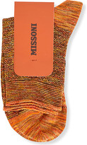 Missoni Metallic cotton-blend ankle socks