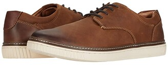 Johnston & Murphy Walden Casual Plain Toe Sneaker (Tan Oiled Full Grain Leather) Men's Shoes