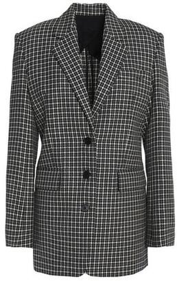 Helmut Lang Checked Wool Blazer