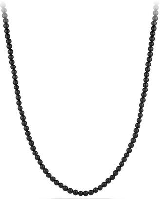 David Yurman Beaded Necklace with Semiprecious Stone