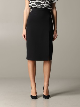 Twin-Set Pencil Skirt With Slit