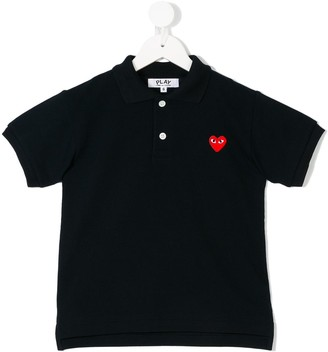 Comme Des Garçons Play Kids Embroidered Heart Polo