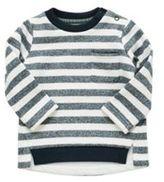 F&F Striped Dipped Hem Lined Sweatshirt, Newborn Boy's