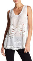 Johnny Was Embroidered Crochet Tank Top
