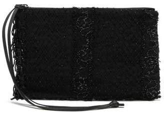 By Walid Victorian Bead Embroidered Clutch - Womens - Black