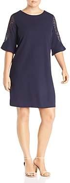 Junarose Plus Anne Lace-Sleeve Shift Dress