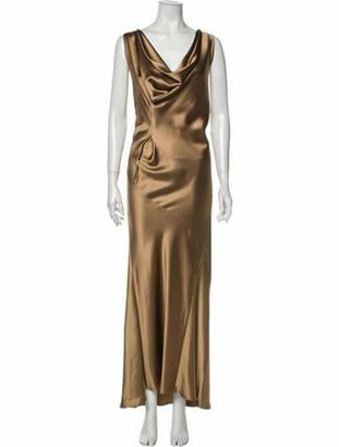 Zero Maria Cornejo Cowl Neck Long Dress w/ Tags Brown