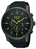 Pulsar Black Textured Chronograph Watch Pt3193x1