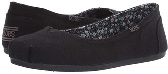 BOBS from SKECHERS Bobs Plush - Turning Point (Black) Women's Slip on Shoes