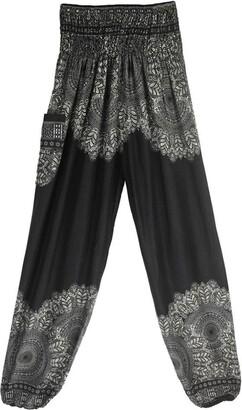 TIFIY Women Thai Boho High Waist Yoga Pants Trousers Leggings (Free Size