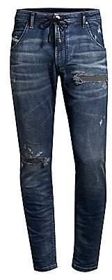 Diesel Men's Krooly Slim-Fit Straight-Leg Distressed Denim Joggers