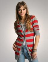 ASOS Stripe Long Length Knitted Cardigan