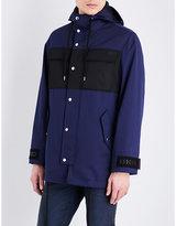 Kenzo Contrast-pockets Twill Parka Coat