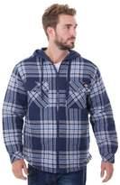 Dickies Men's Big & Tall Flannel Hooded Overshirt