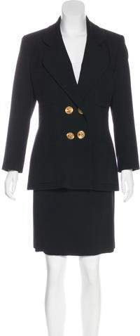Chanel Double-Breasted Skirt Suit